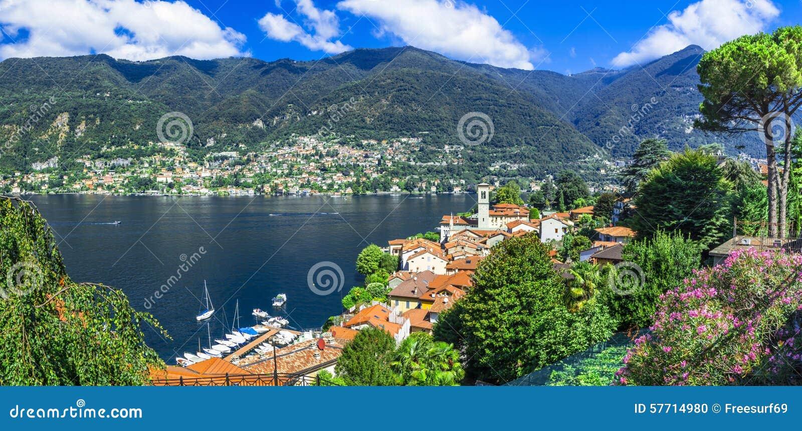 Beautiful villages of lago di como blevio stock photo for Lago n