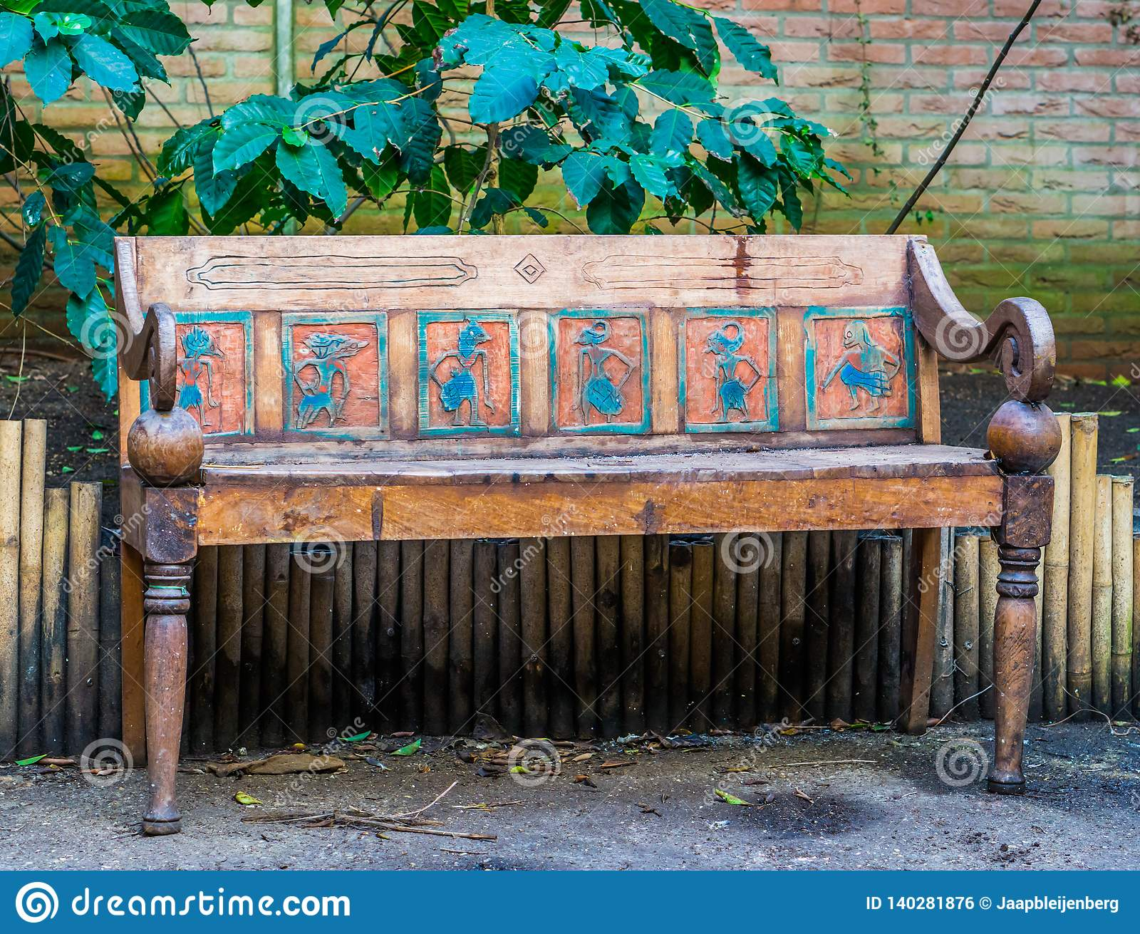 Astonishing Beautiful Vintage Bench In Egyptian Style Seat Decorated Pdpeps Interior Chair Design Pdpepsorg