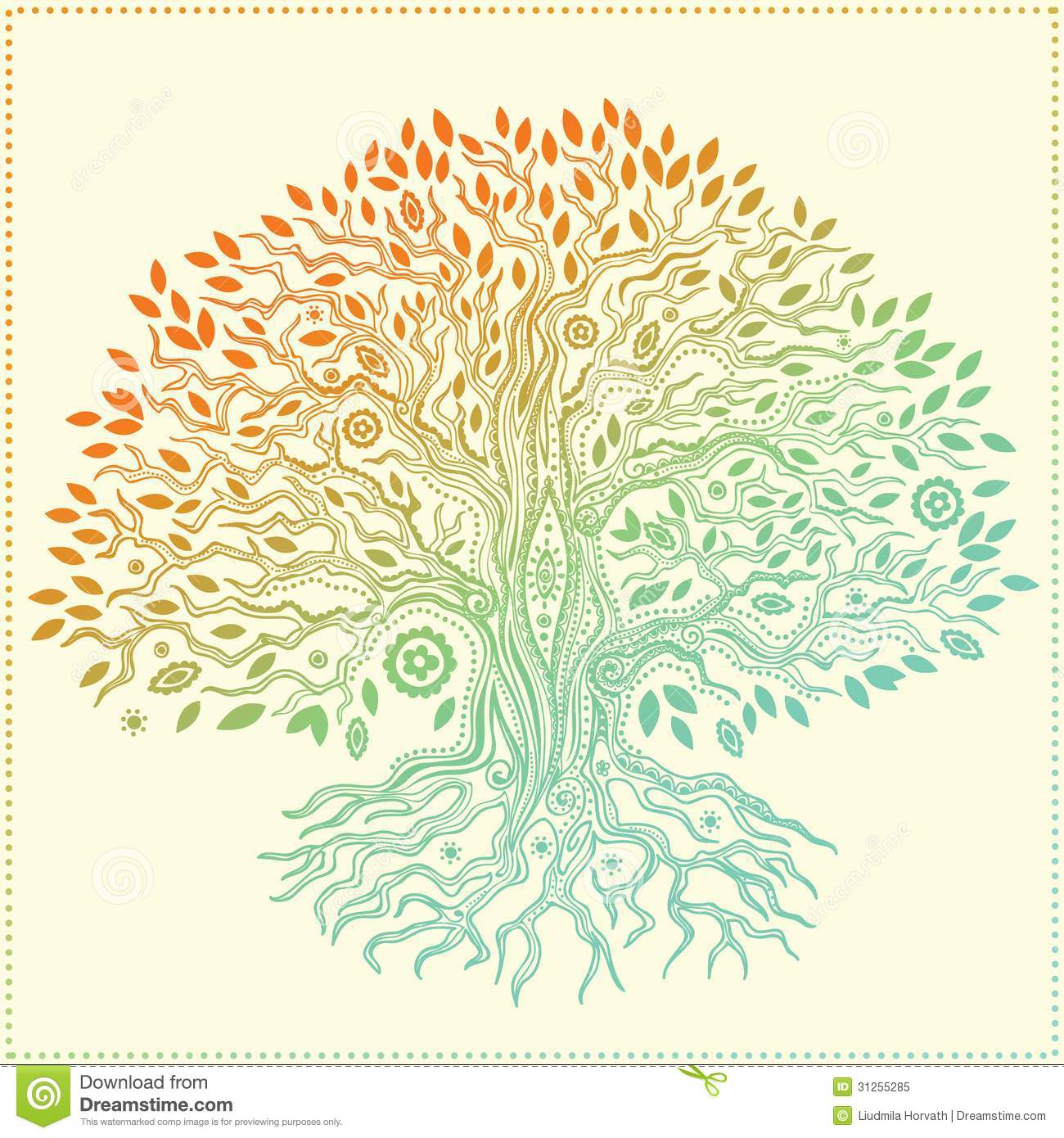 Fantastic Trees Coloring Component - Coloring Page ...