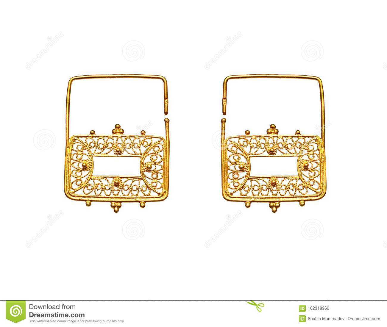 Beautiful Vintage Oriental Gold Turkish Jewelry Women`s