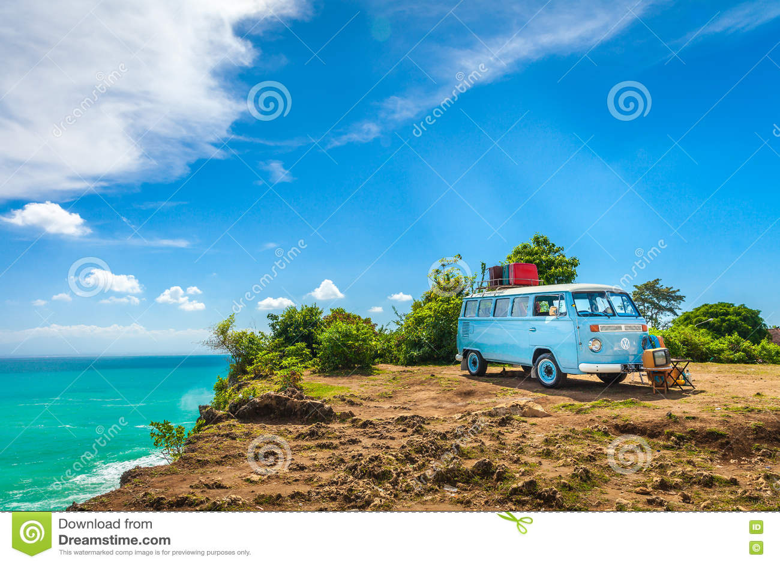 Beautiful Vintage Retro Car Volkswagen Van Hippie Minibus ...