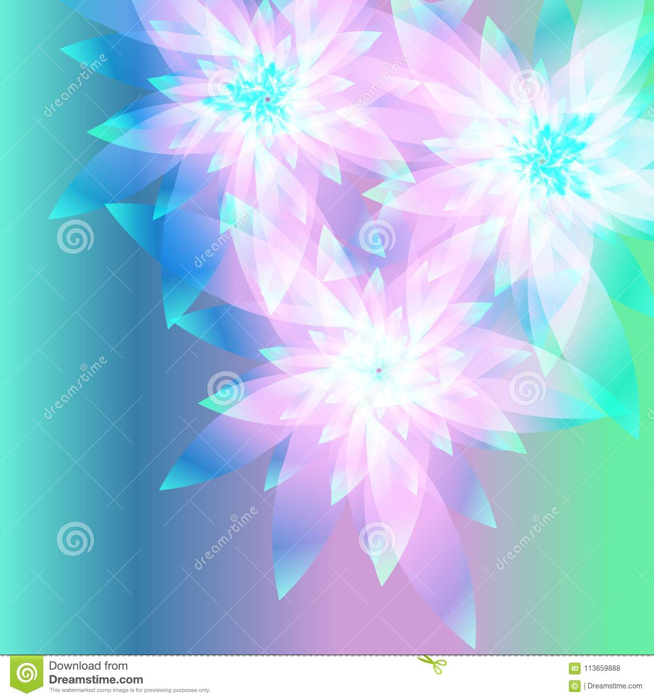 Beautiful Violet Flowers On A Gentle Background Abstract