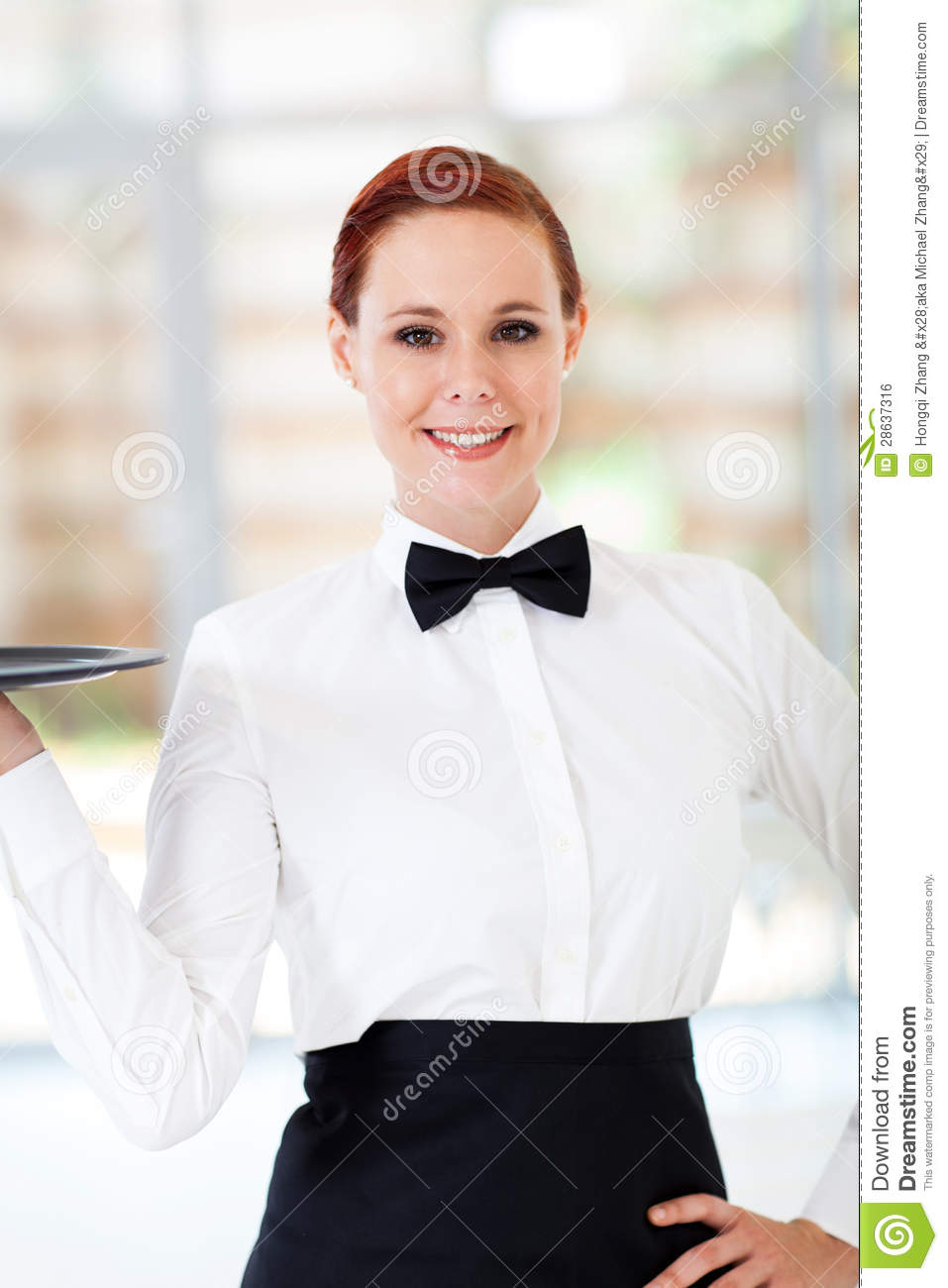 Beautiful Waitress Royalty Free Stock Image - Image: 28637316