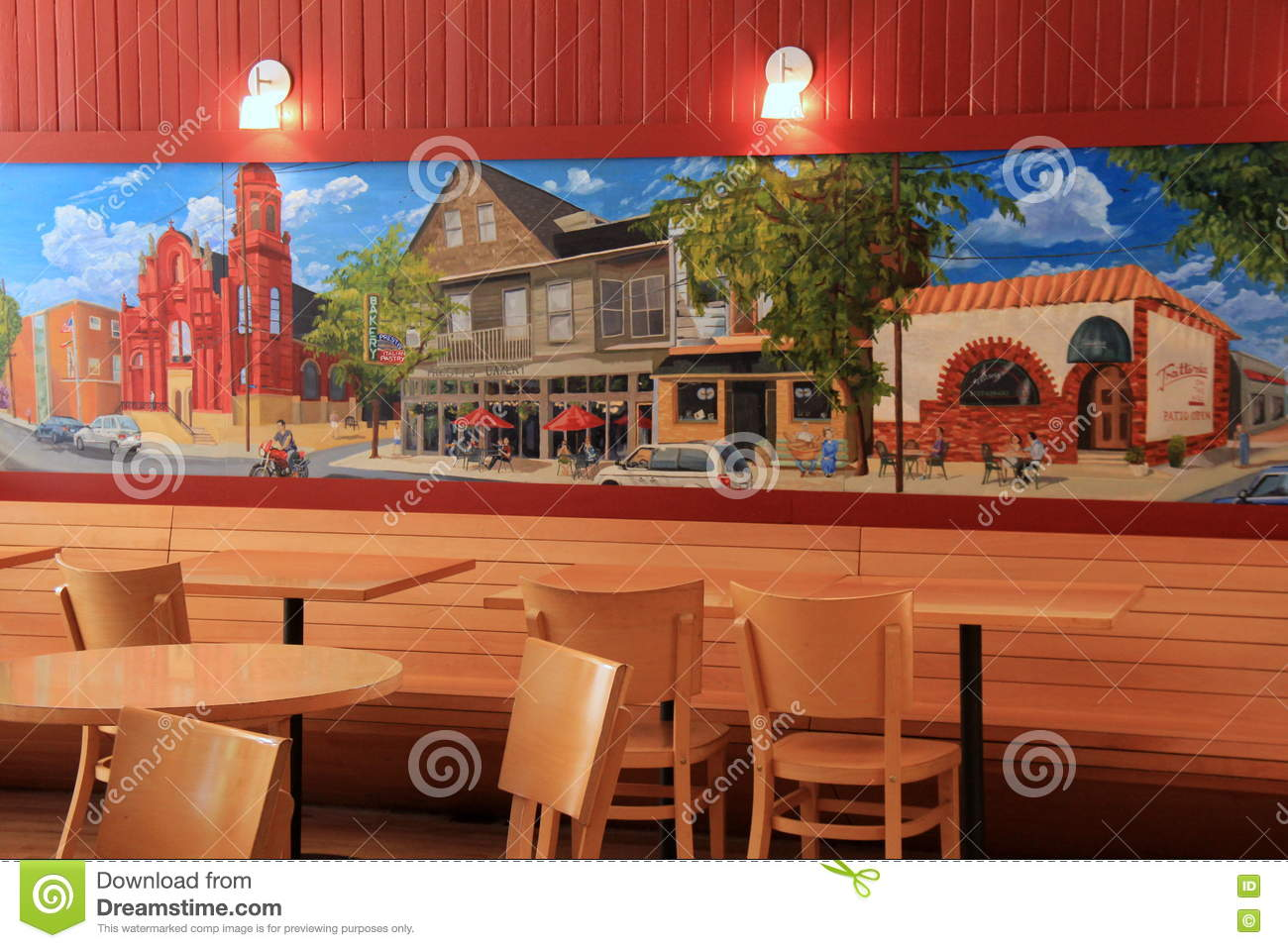 Beautiful mural with several images of horse culture in for A mural with an area of 18m2