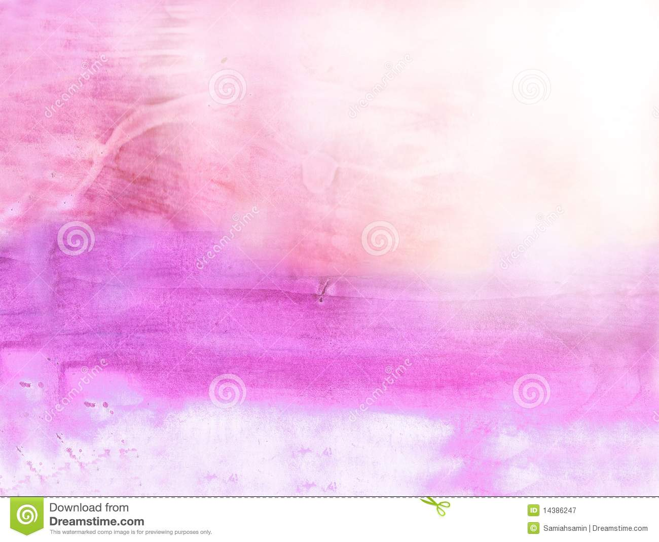 Beautiful Watercolor Background In Soft Pink Stock