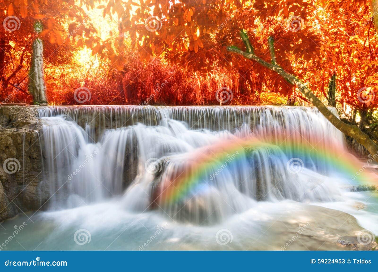 beautiful soft waterfall in - photo #28