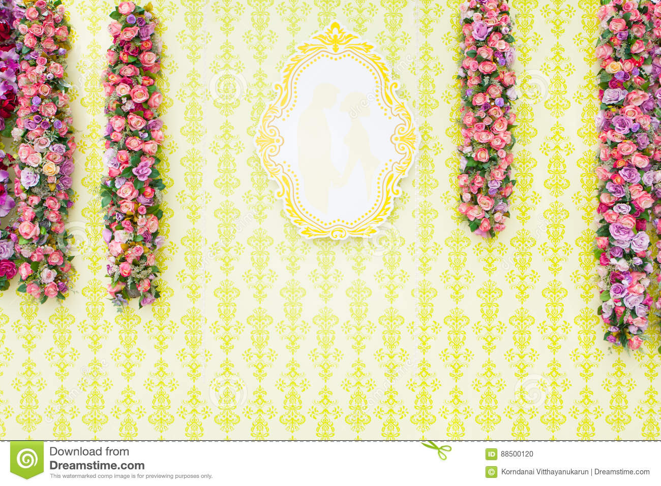 Beautiful Wedding Backdrop Stock Photo Image Of Colorful Letter