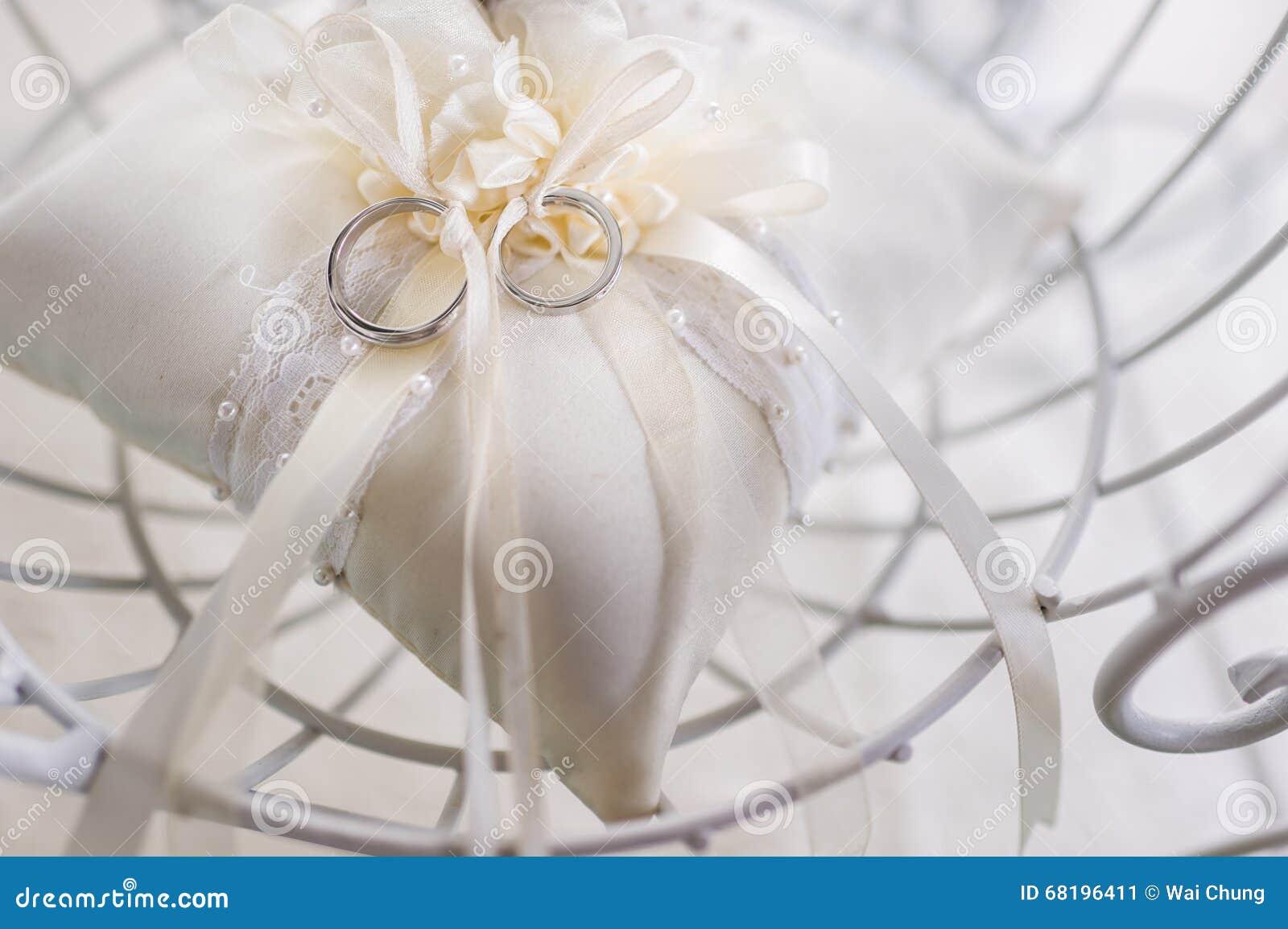 stock photo beautiful wedding bands tied together ring pillow image beautiful wedding bands Beautiful wedding bands