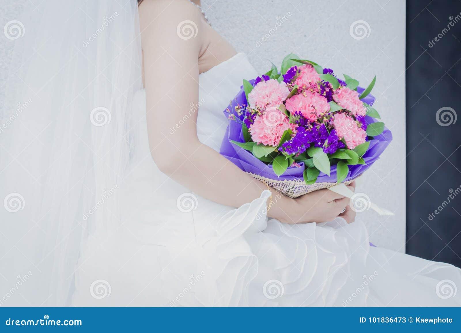 Beautiful Wedding Bouquet In Bride S Hand Stock Image Image Of