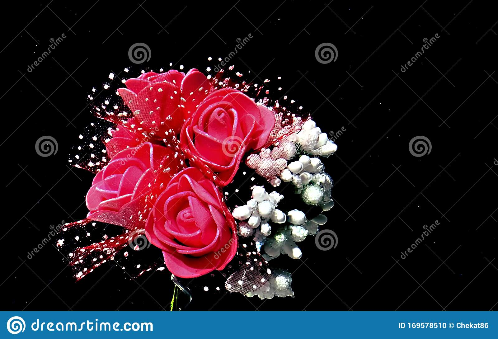 Beautiful Wedding Bouquet Of Red Roses And White Flowers On A Black Background Stock Photo Image Of March Beautiful 169578510