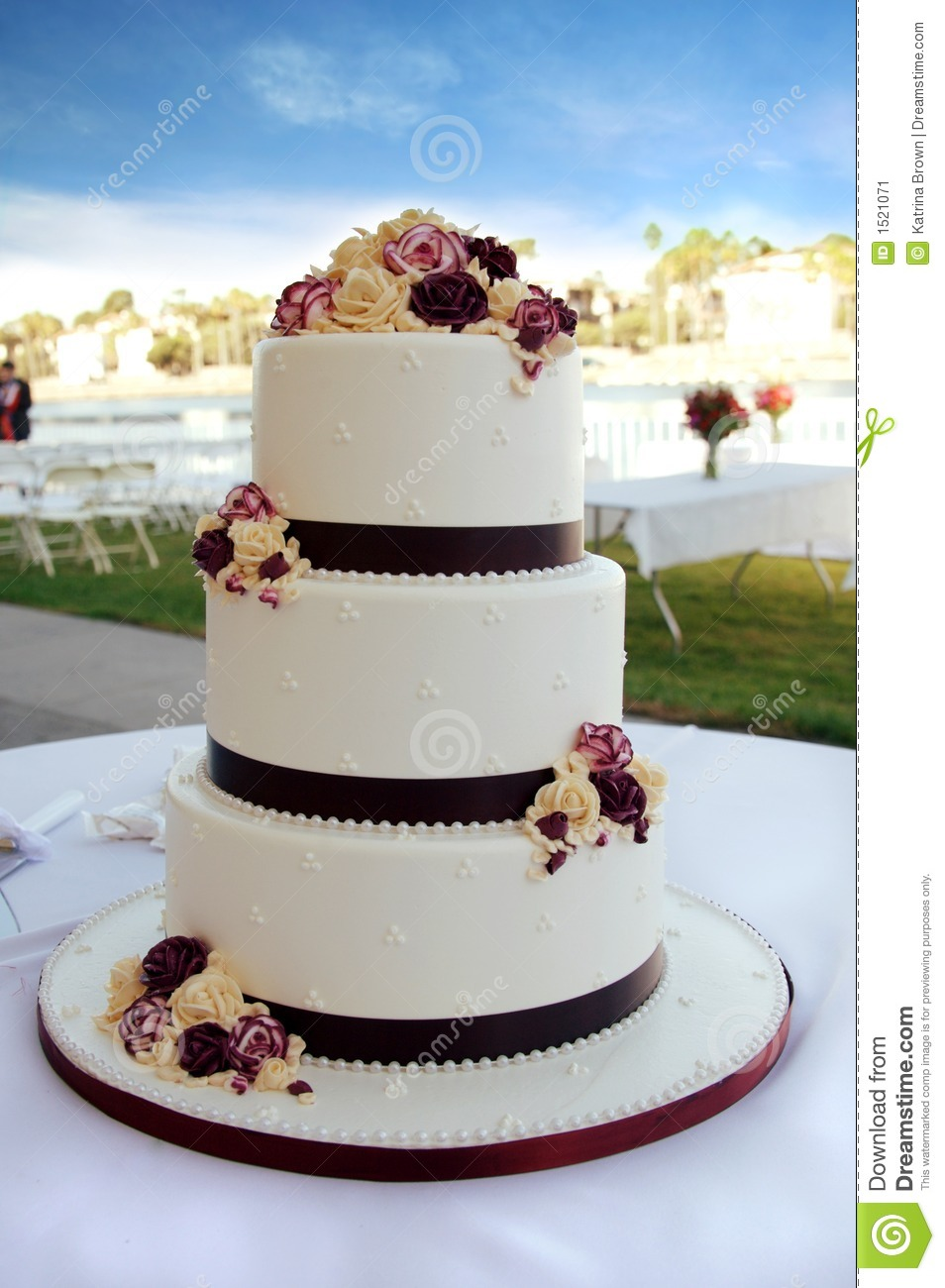 beautiful wedding cakes photos beautiful wedding cake stock image image of 11225