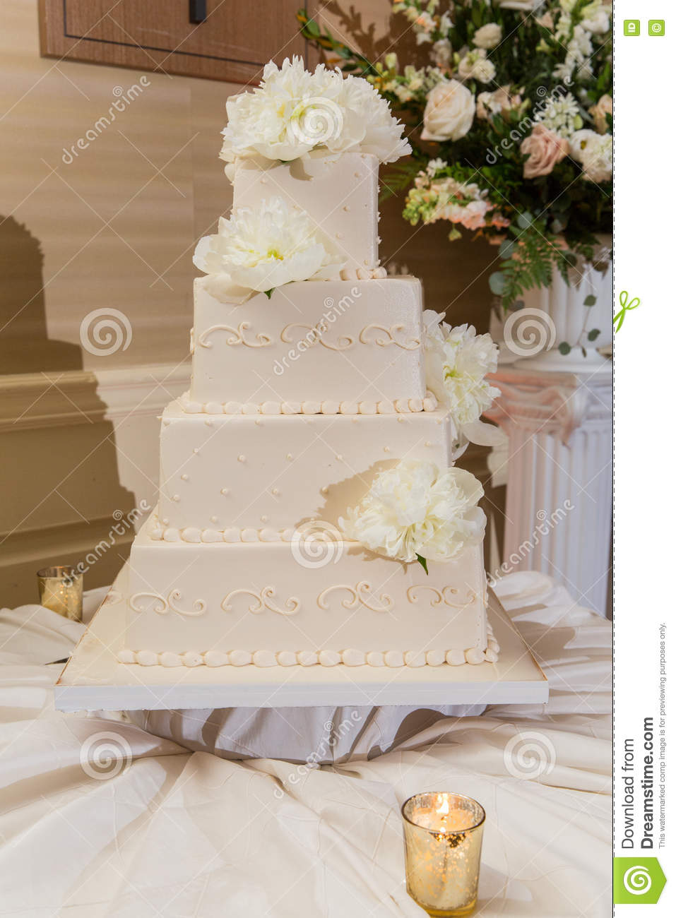 Beautiful Wedding Cake Stock Image Image Of Food Coffee