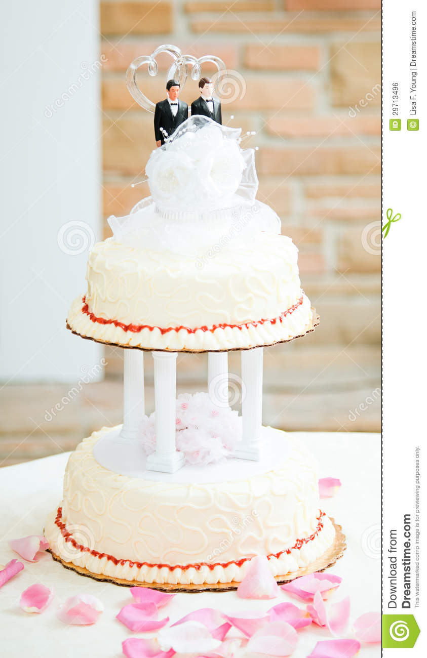 Wedding Cake Ideas For Gay Wedding : Wedding Cake For Gay Couple Stock Photo - Image: 29713496