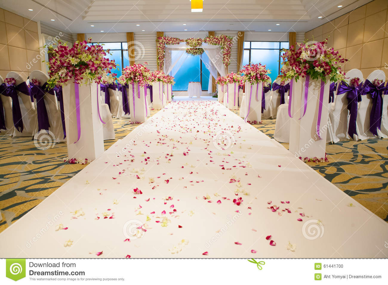 Beautiful wedding ceremony design decoration elements stock photo download comp junglespirit Image collections