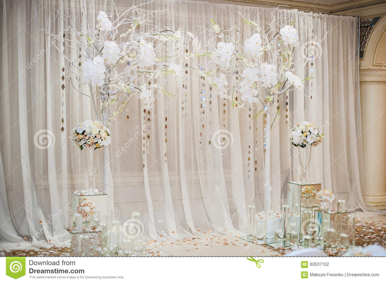 Wedding Decoration. The Wedding Ceremony. Royalty-Free