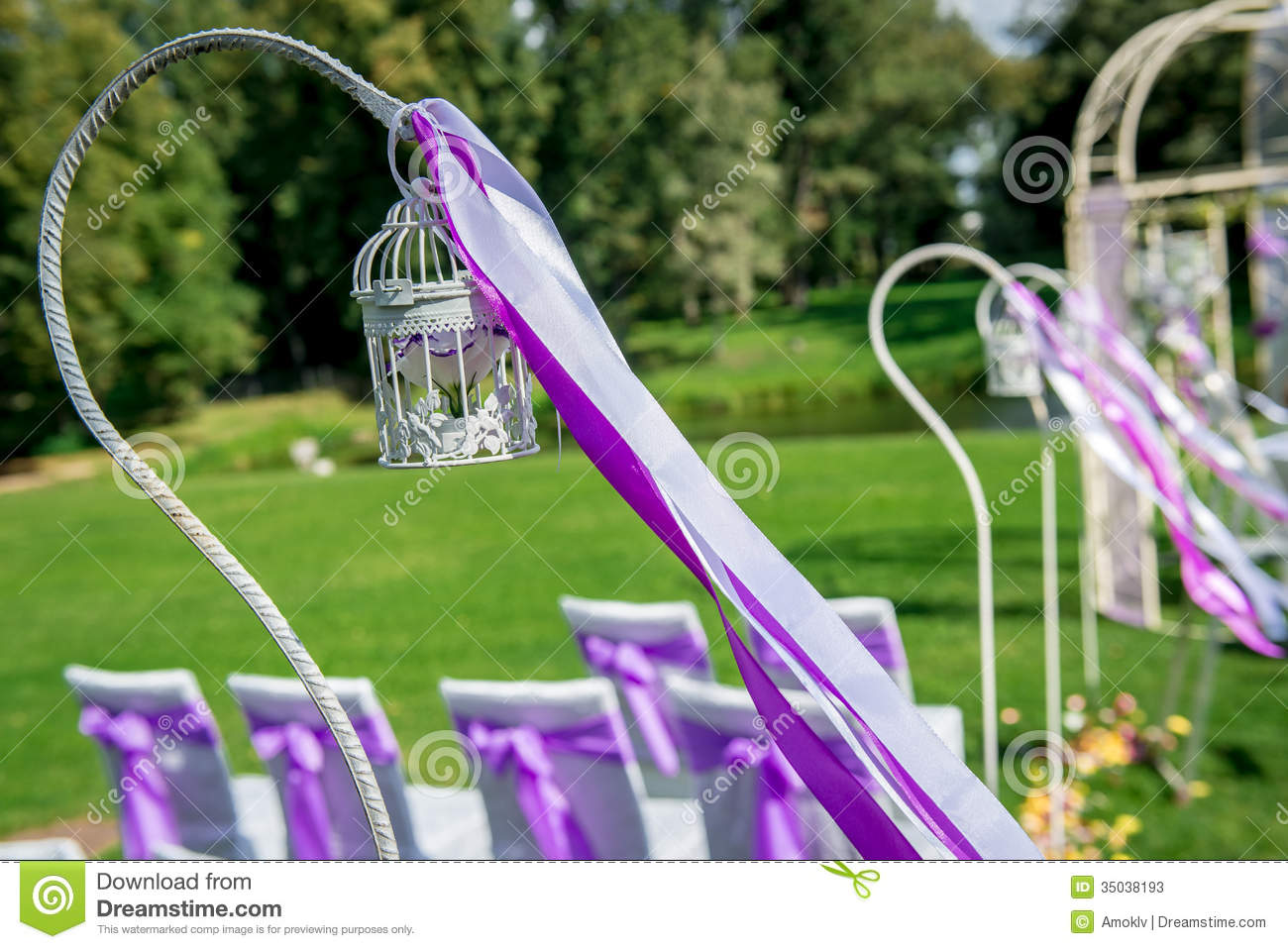 Beautiful Wedding Decoration Stock Image Image Of Grass Elegance