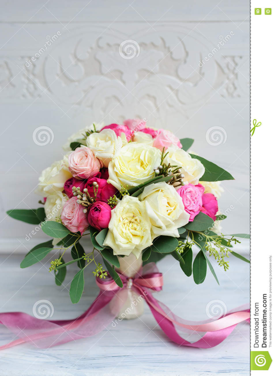 Beautiful Wedding Flower Bouquet For Bride Stock Photo Image Of