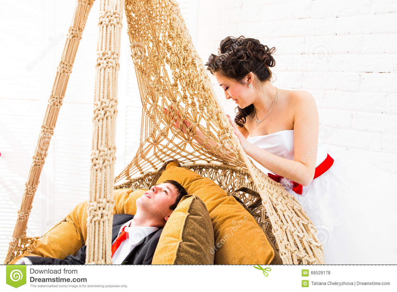 Download Beautiful Wedding Husband And Wife Lovers Man Woman Bride And Groom Stock