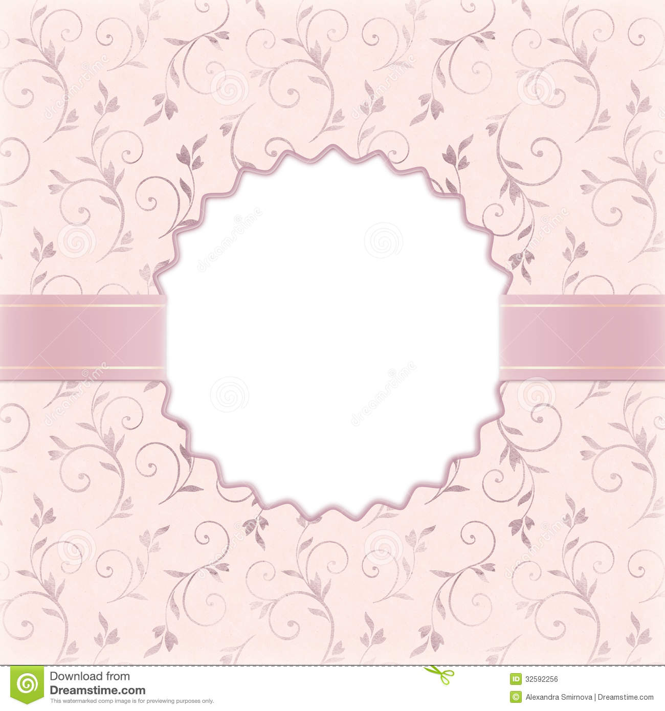 Beautiful Wedding Invitation Stock Illustration - Image: 32592256