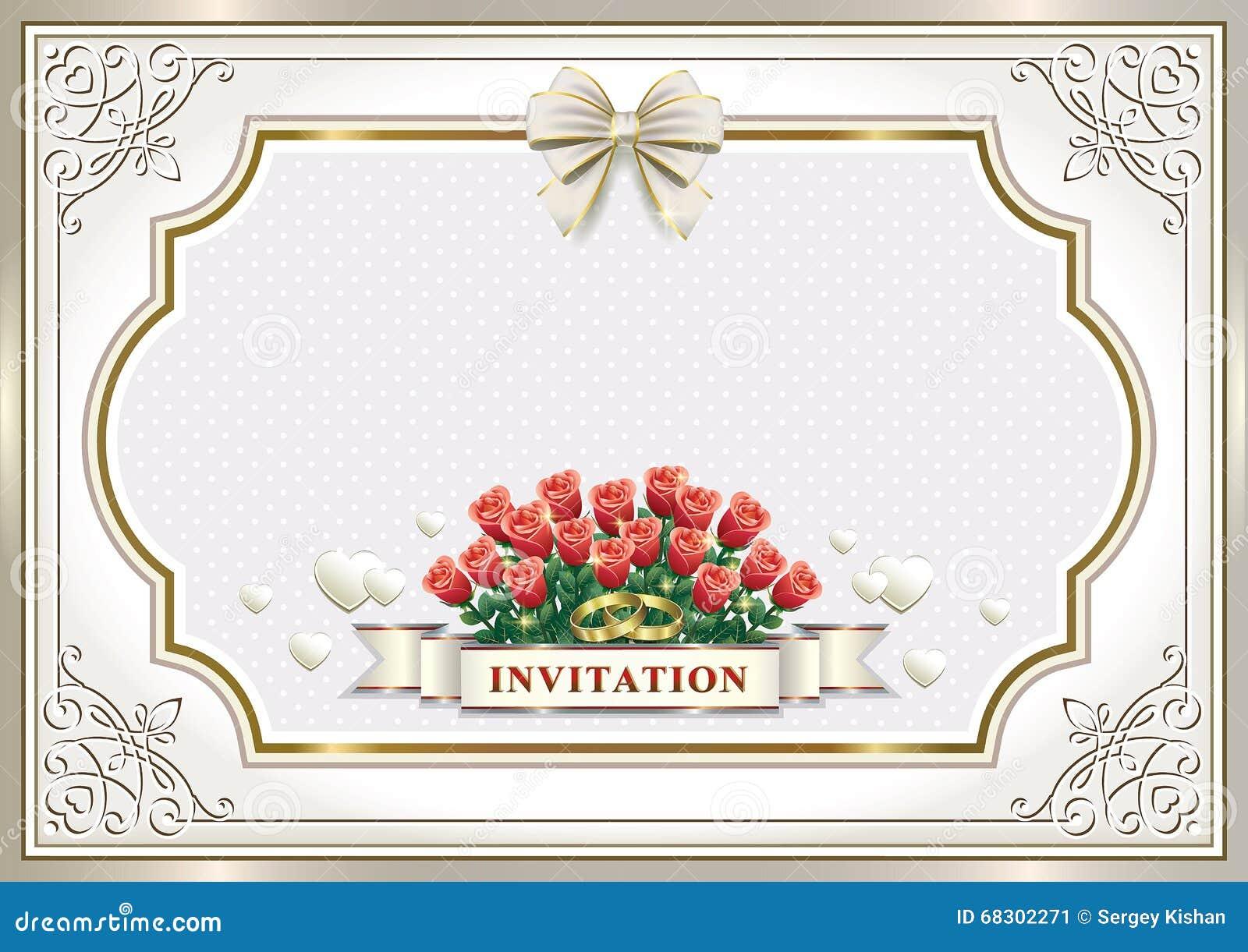 beautiful wedding invitation card stock vector  image
