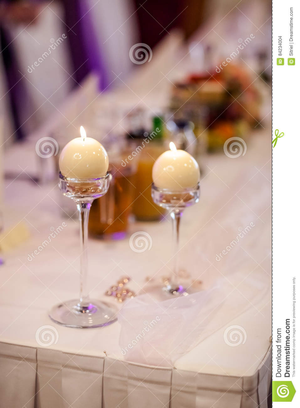 Beautifully Decorated Luxury Living Room 3d Models: Beautiful Wedding Reception Table Decoration Stock Photo