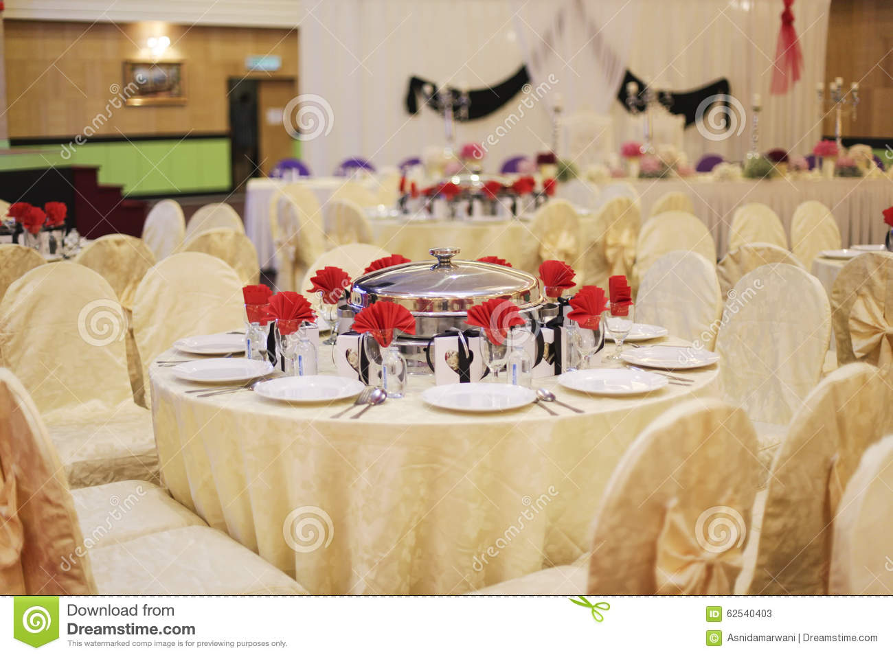 beautiful wedding restaurant for marriage. white decor for bride