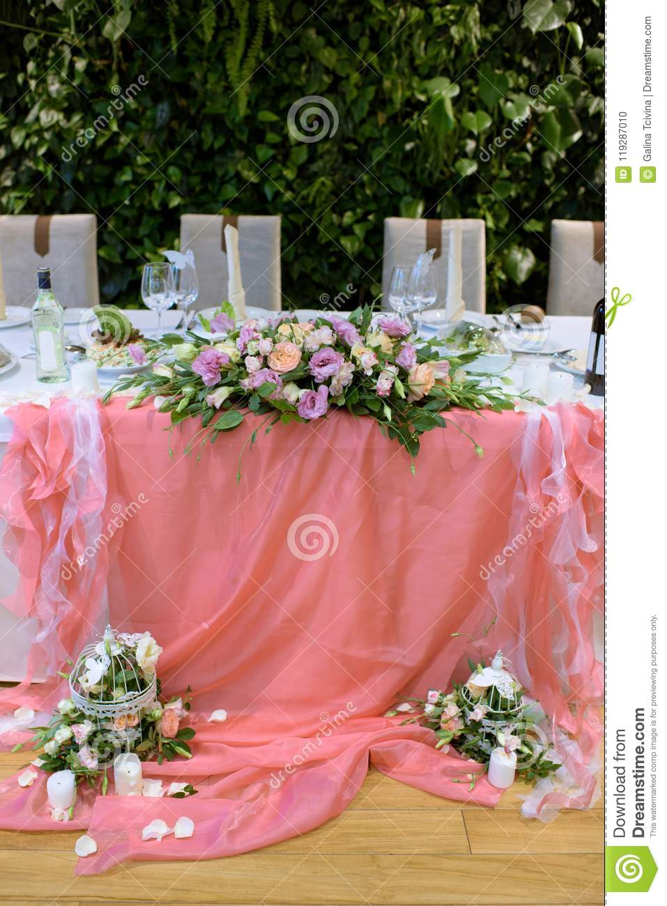 Beautiful Wedding Restaurant For Marriage Stock Photo - Image of ...