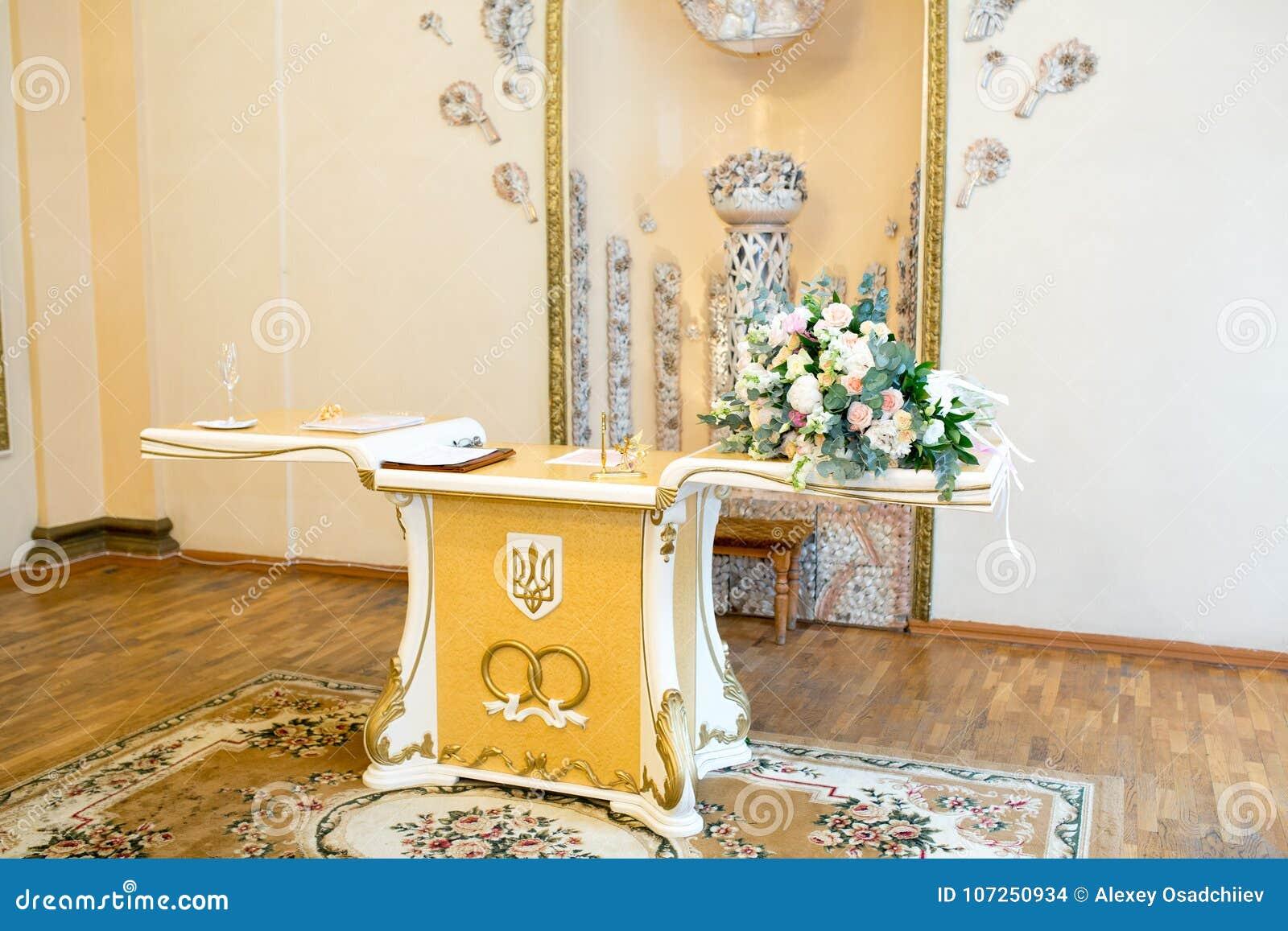 Big wedding room stock photo. Image of beautiful, happy - 107250934
