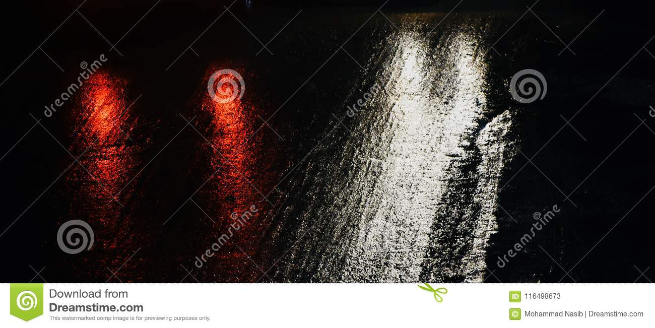 Download Beautiful Wet Road With Vehicles Lights  Unique Photograph Stock Image - Image of concept, stylish: 116498673