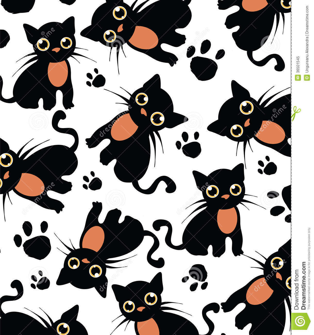 Black Cat Pattern For Sewing