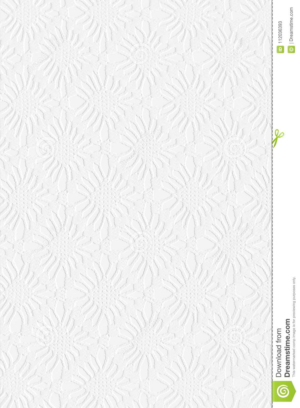 White Wallpaper Floral Squares Background Stock Image Image Of White Fabric 112036393