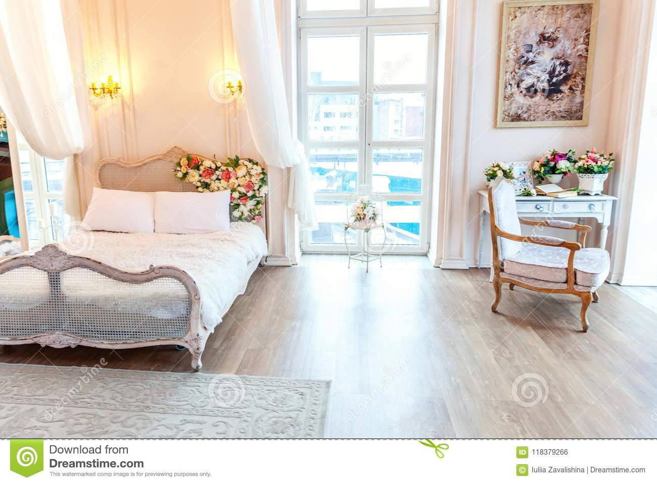 Amazing Beautiful White Bright Clean Interior Bedroom In Luxurious Home Interior And Landscaping Eliaenasavecom