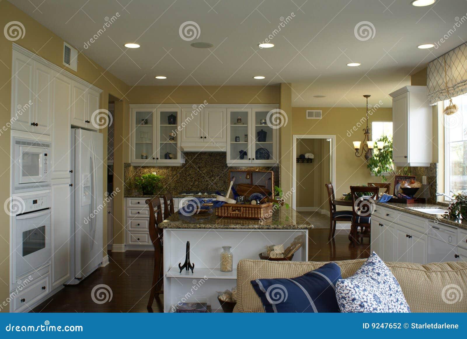 Beautiful White Kitchen Stock Photo Image Of Floor Cheery 9247652