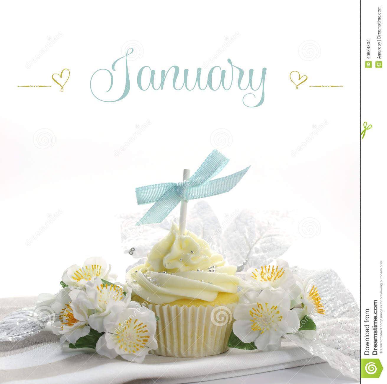 Beautiful White Snow Theme Cupcake With Seasonal Flowers  : beautiful white snow theme cupcake seasonal flowers decorations month january sample text copy space 40684834 from www.dreamstime.com size 1311 x 1300 jpeg 114kB