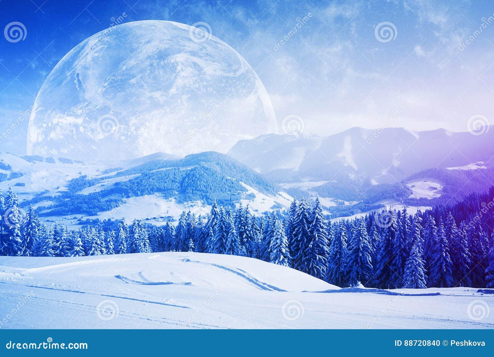 Beautiful Winter Backdrop Stock Illustration Illustration Of