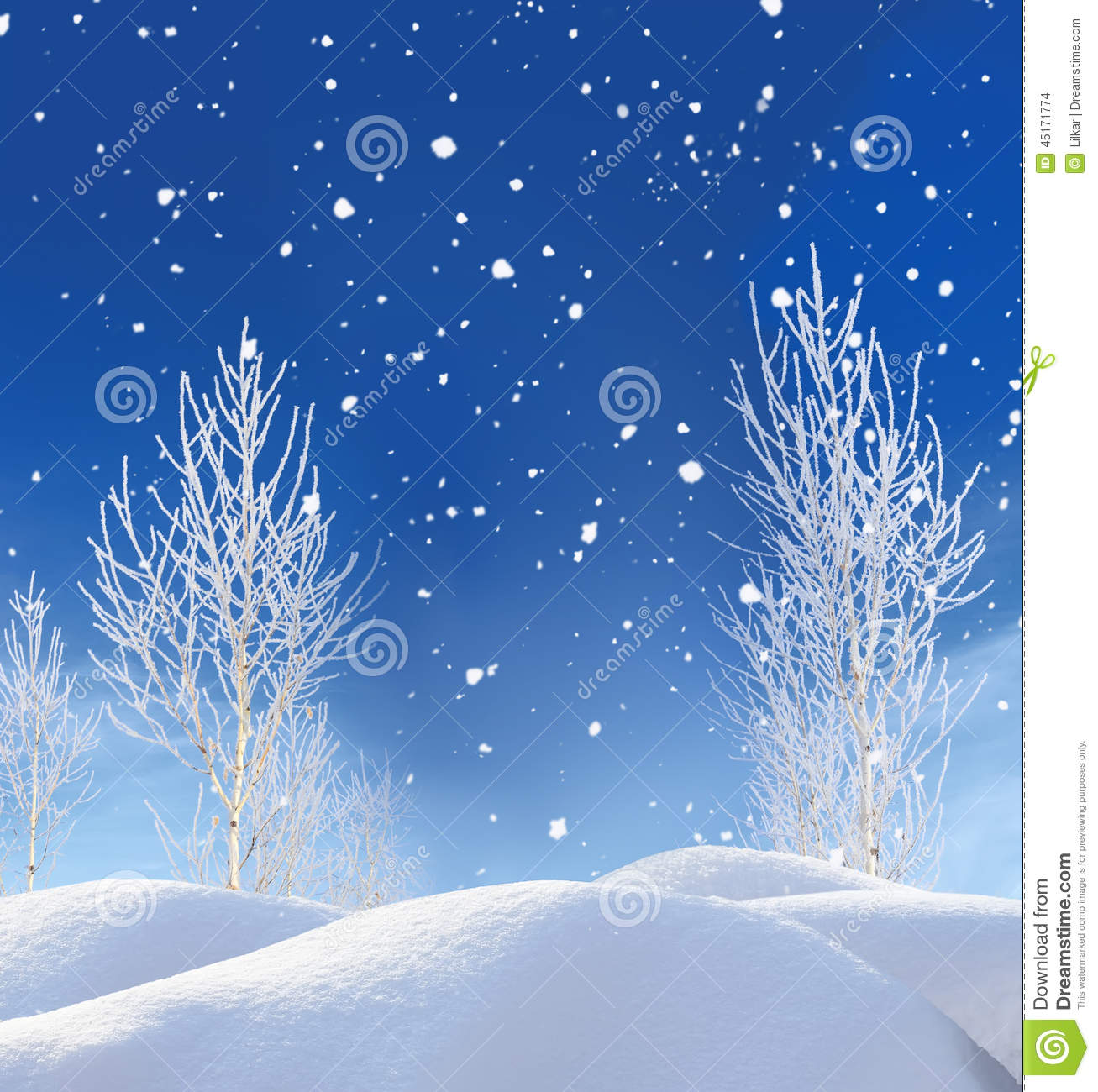 Beautiful Winter Landscape Stock Photo. Image Of Cold