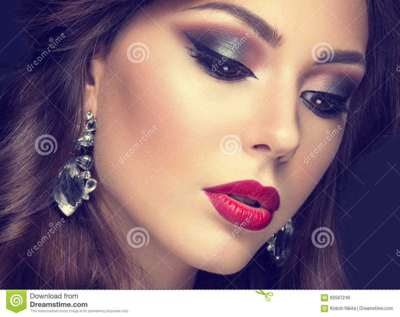 Girl With Red Lips Beautiful Face | Foto Bugil Bokep 2017