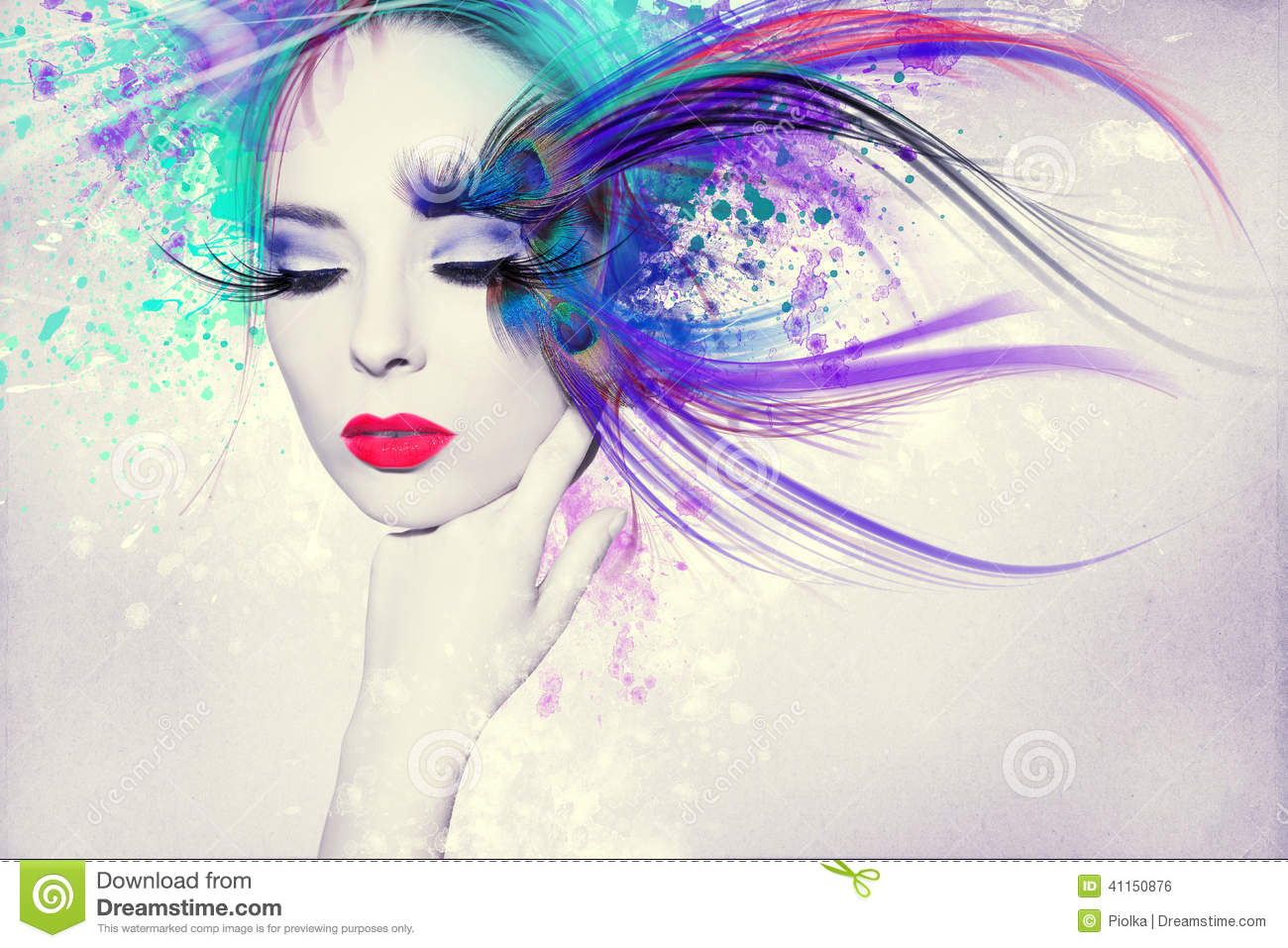 beautiful woman  artwork with ink in grunge style stock ink splatter vector illustrator free ink splatter vector free