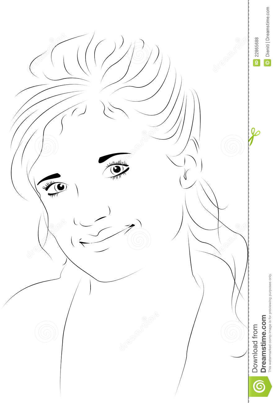 Line Drawing Of Woman : Female face line drawing imgkid the image kid