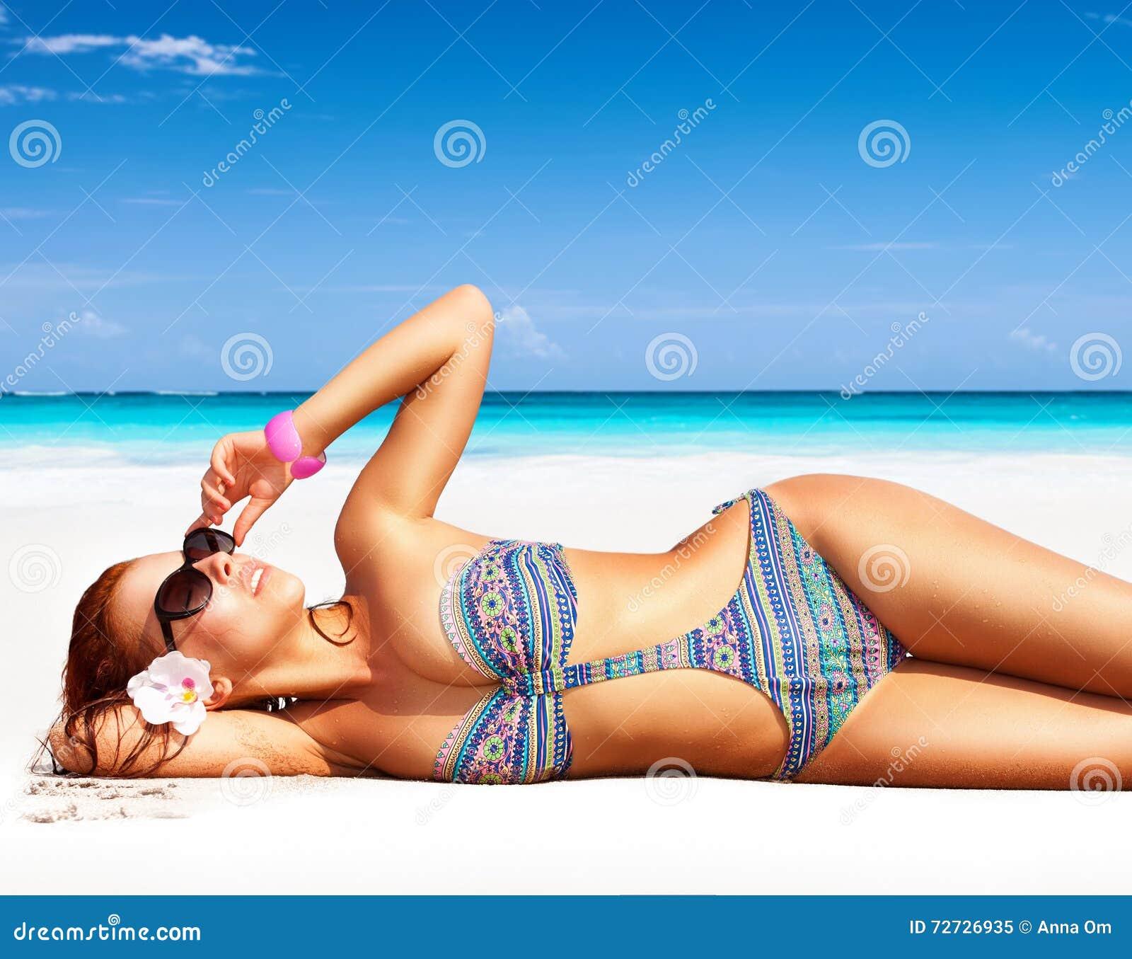 Woman With Beautiful Body In Bikini At Beach Stock Image: Beautiful Woman On The Beach Stock Image