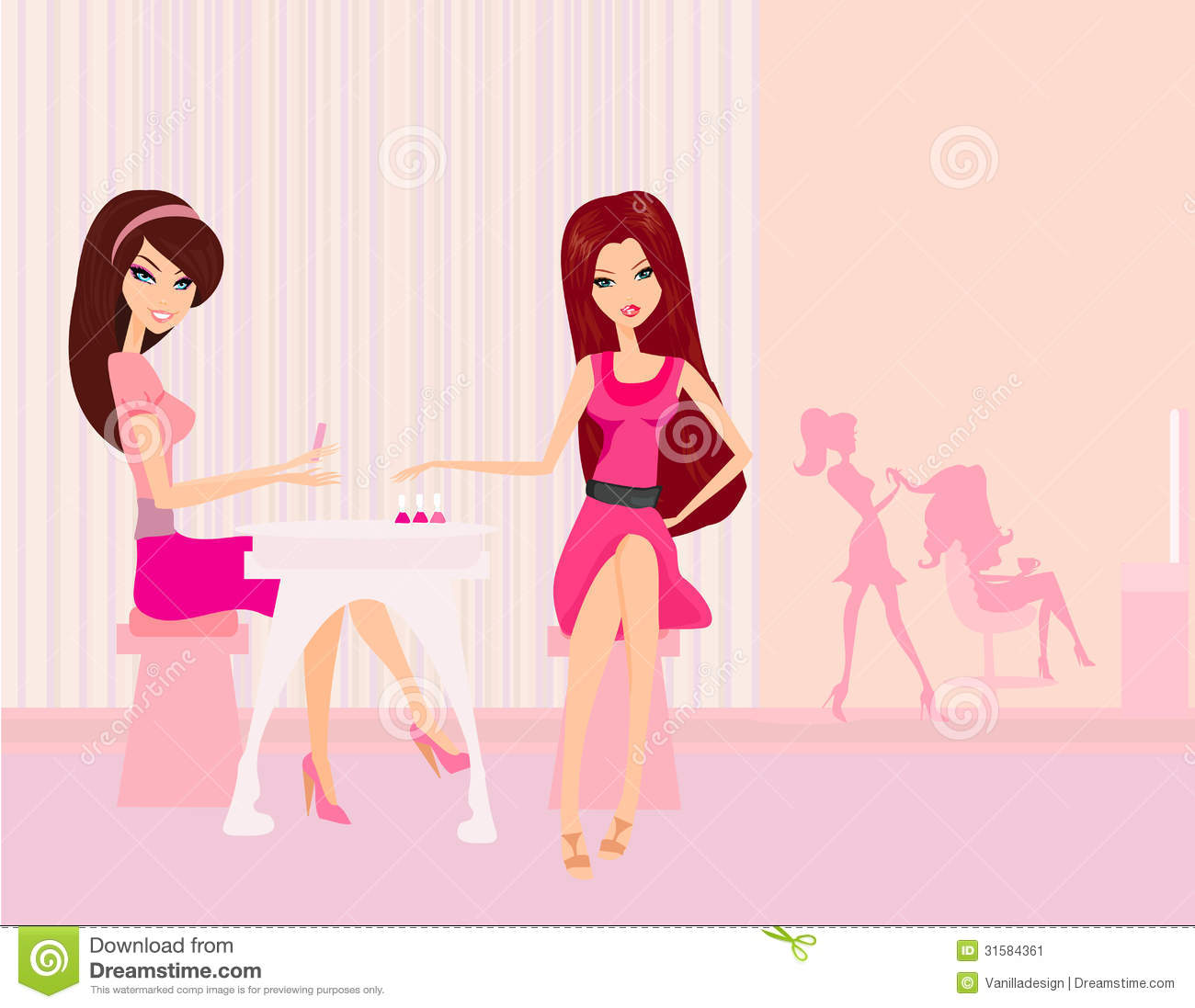 Beautiful woman in beauty salon stock vector image 31584361 for A beautiful you salon