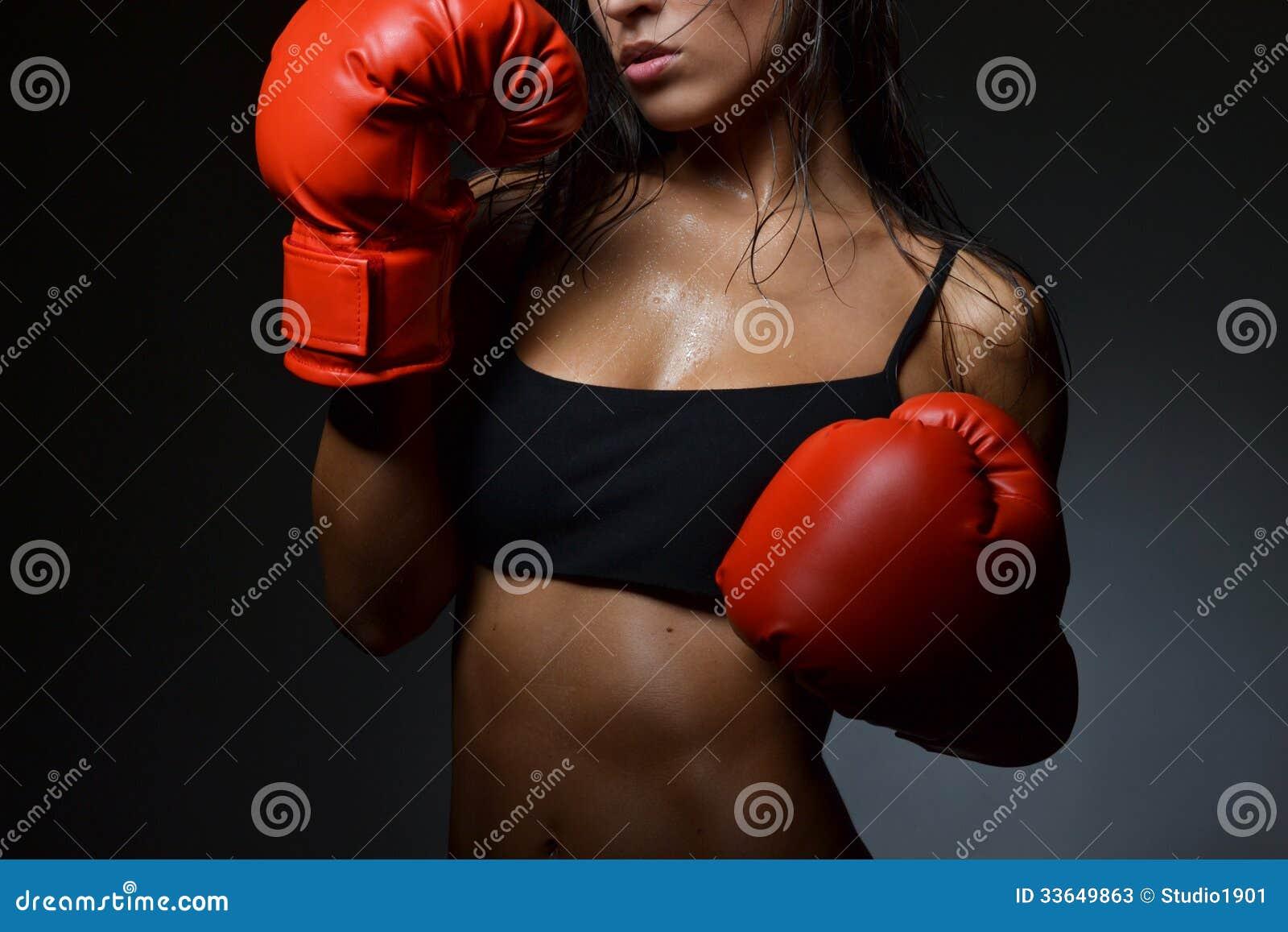 Beautiful Woman Boxing Stock Photos - Image: 33649863