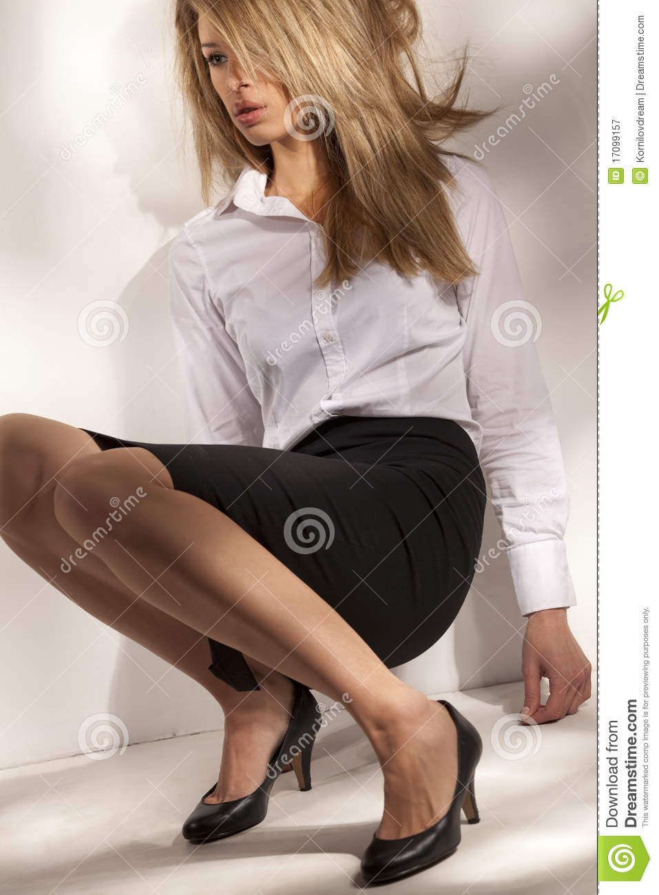 Beautiful Woman In Business Suit Royalty Free Stock