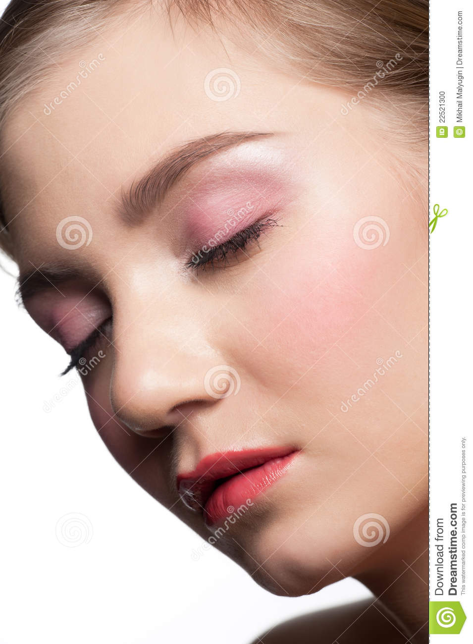 Beautiful Woman With Closed Eyes Stock Photo - Image: 22521300