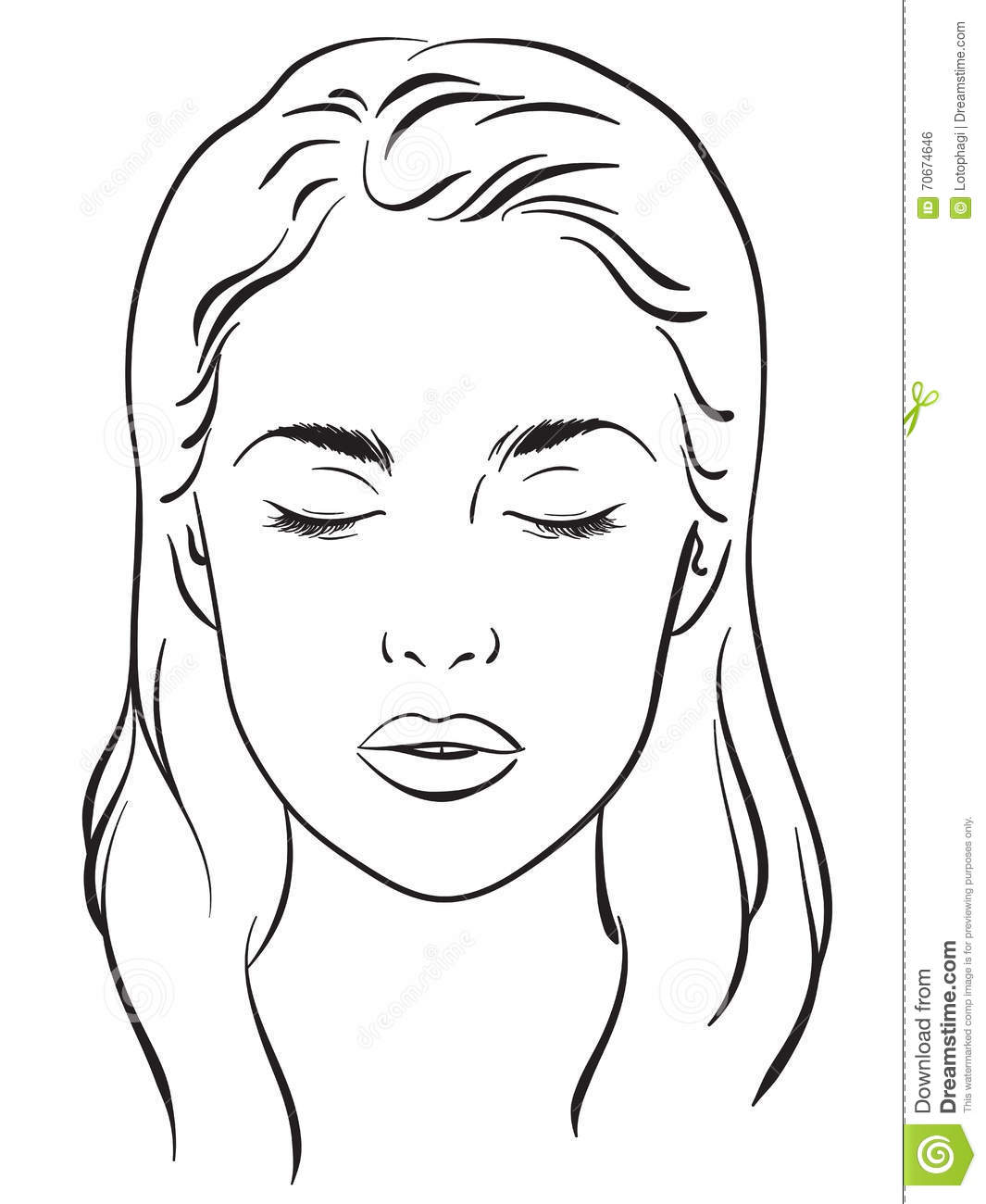 Face Coloring Pages For Makeup