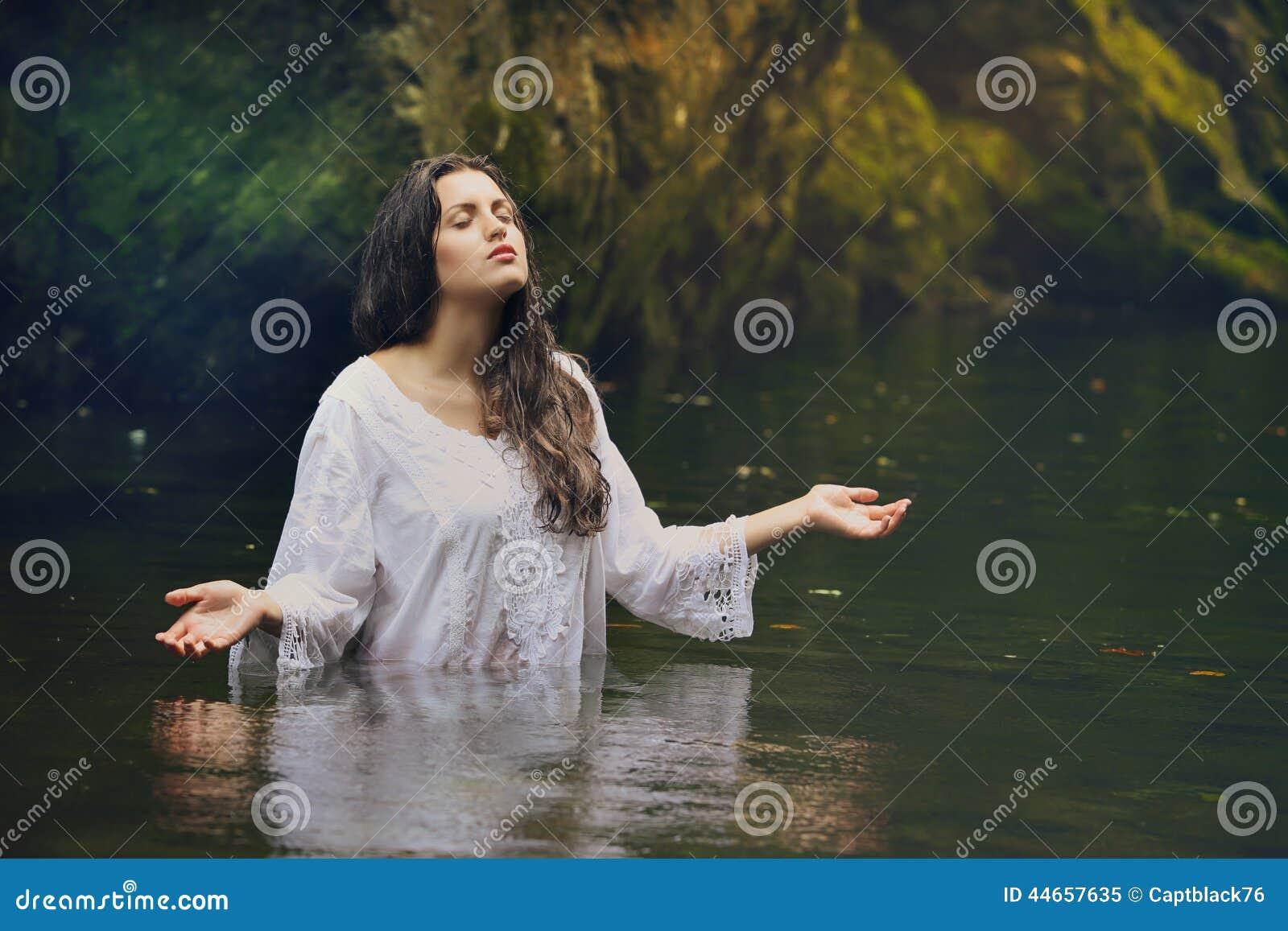 Beautiful Toplesswomen In Nature