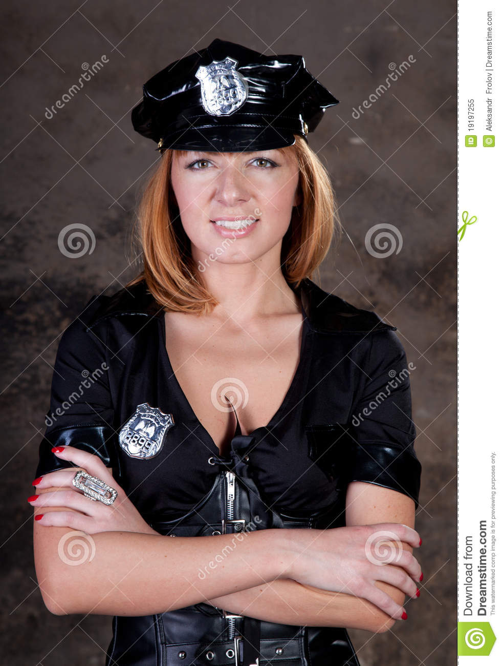 image Beautiful lesbian police officer pleased by brunette hottie