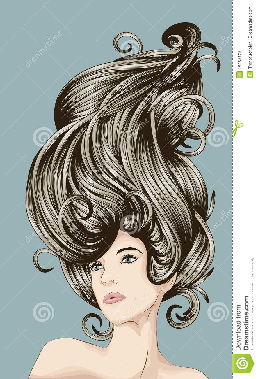 Beautiful woman with detailed hair