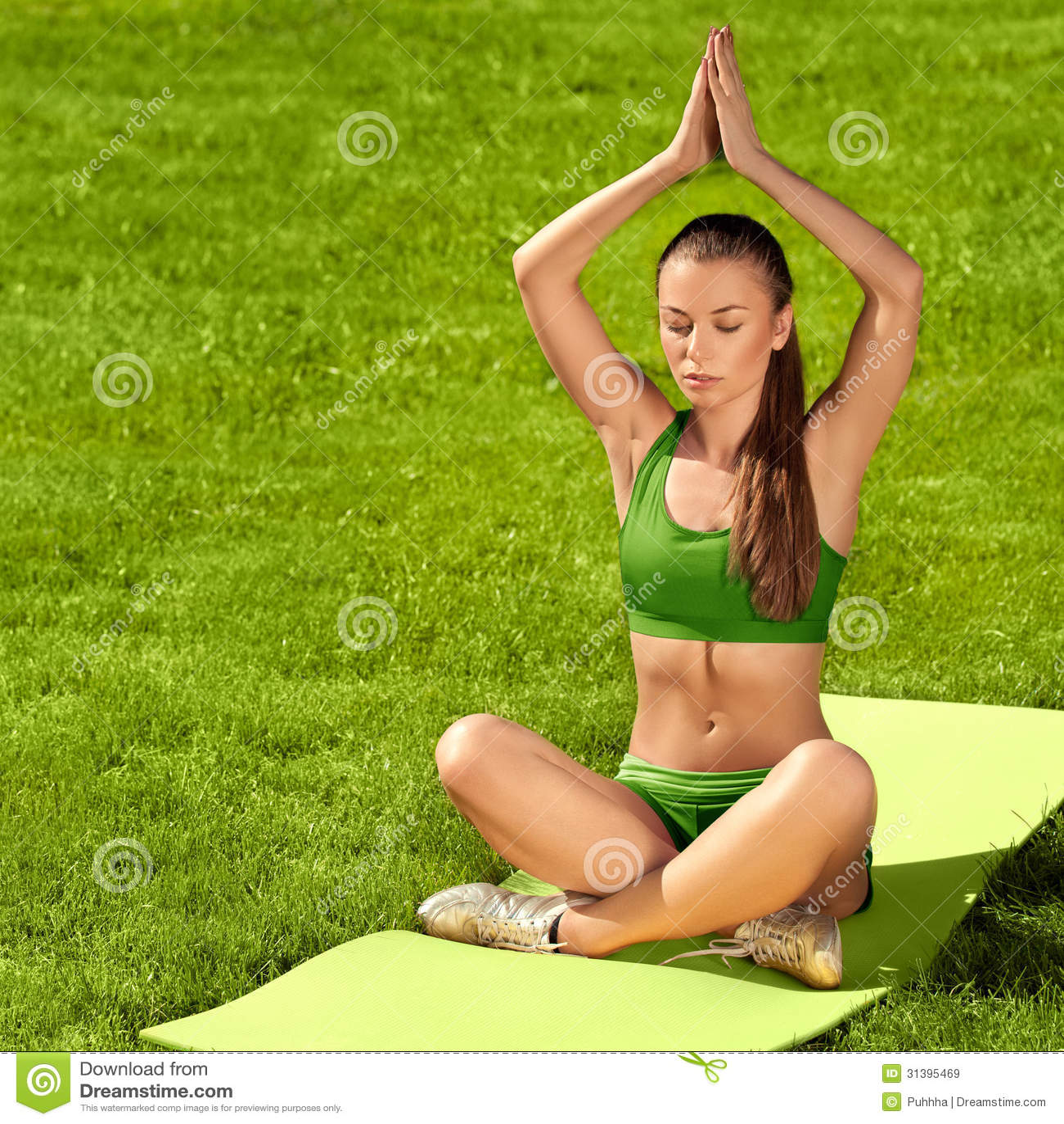 Beautiful Woman Doing Yoga Exercises Royalty Free Stock