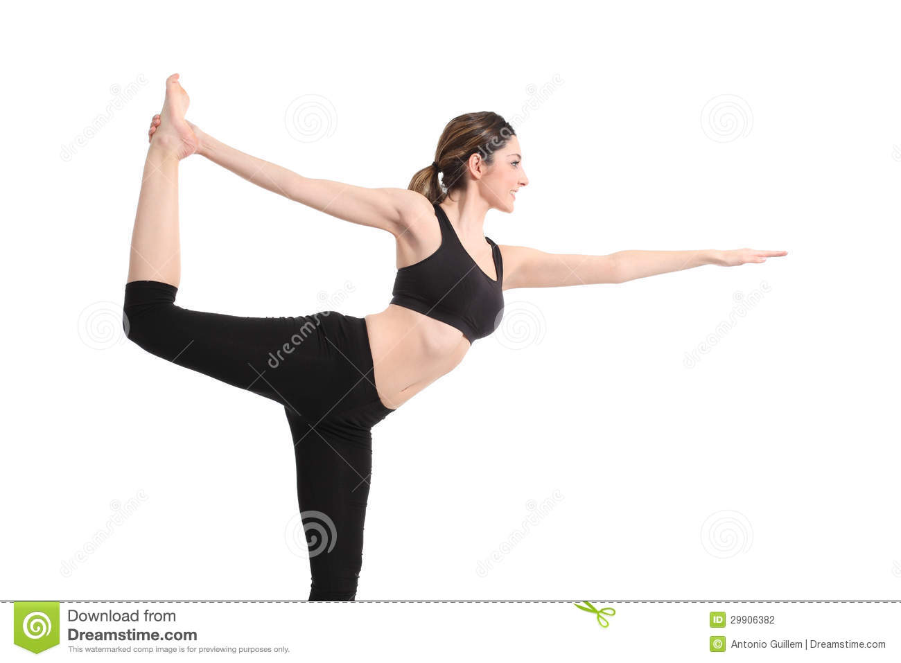 Beautiful Woman Doing A Yoga Pose Stock Photo Image Of Healthcare Leisure 29906382